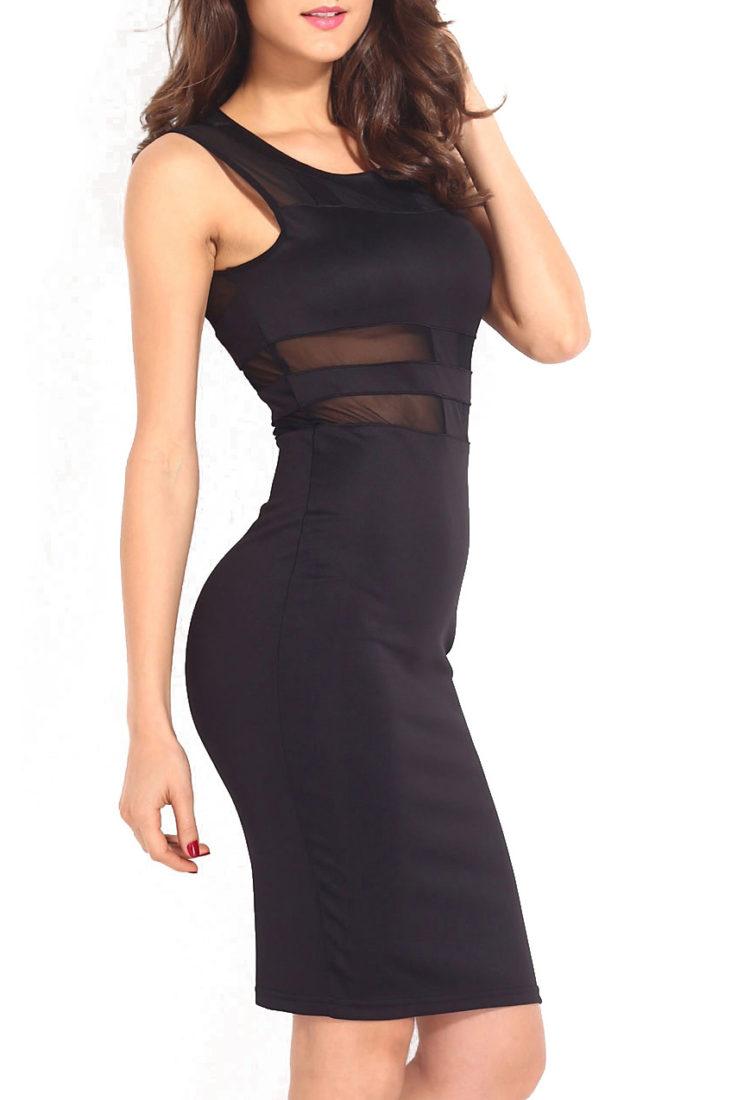 Buy Black Transparent Party Dress