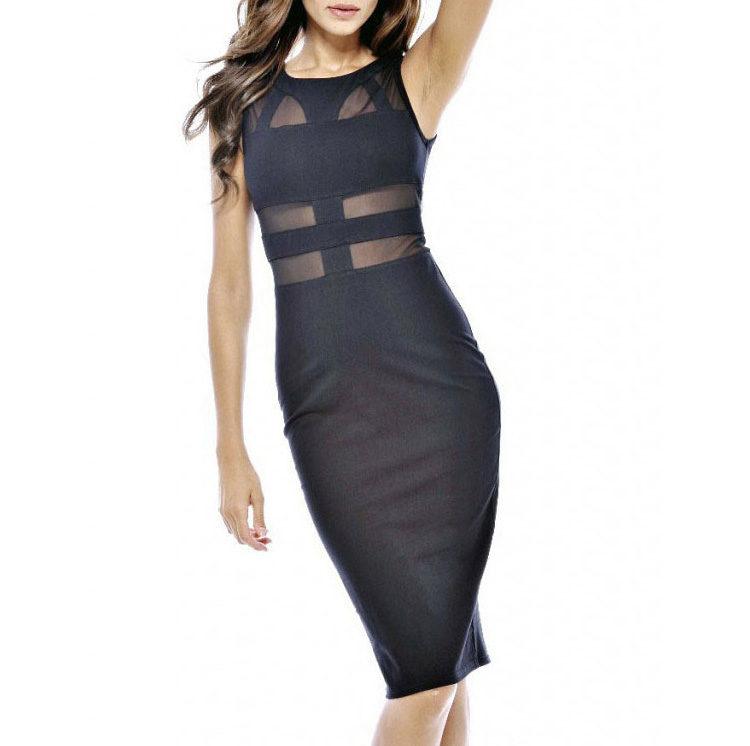 Buy Black Transparent Party Dress Online