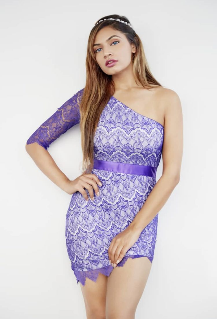 Off Shoulder Party Dress in India