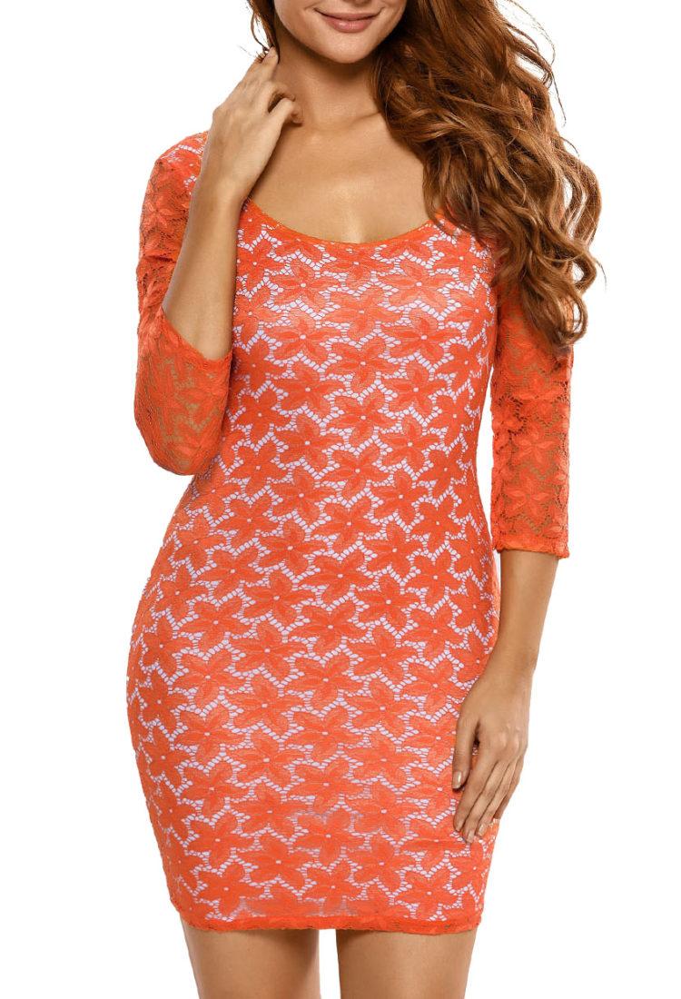 Buy Orange Backless Dress in India