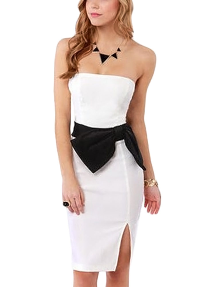 Buy Bow White Dress In India