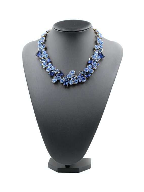Blue Choker Fashion Necklace