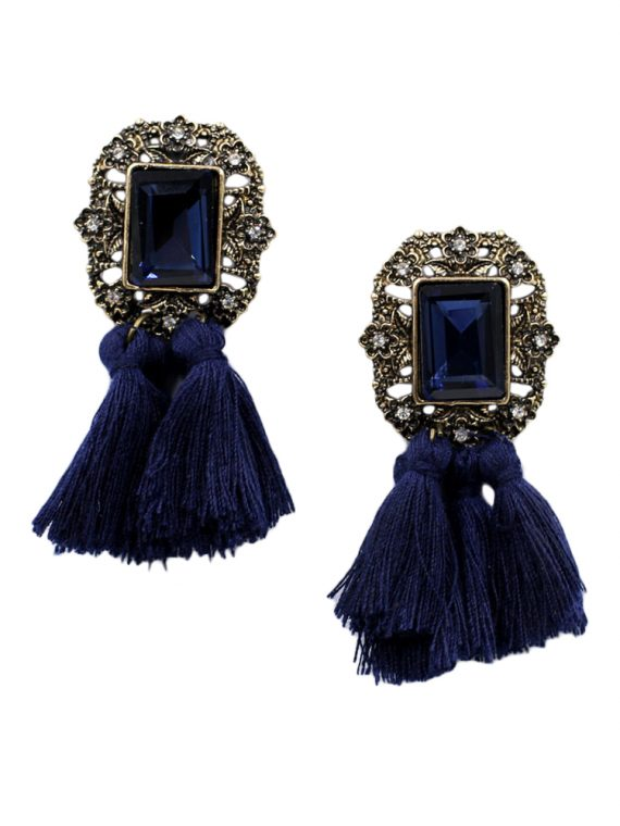 Buy Black Statement Earrings In India