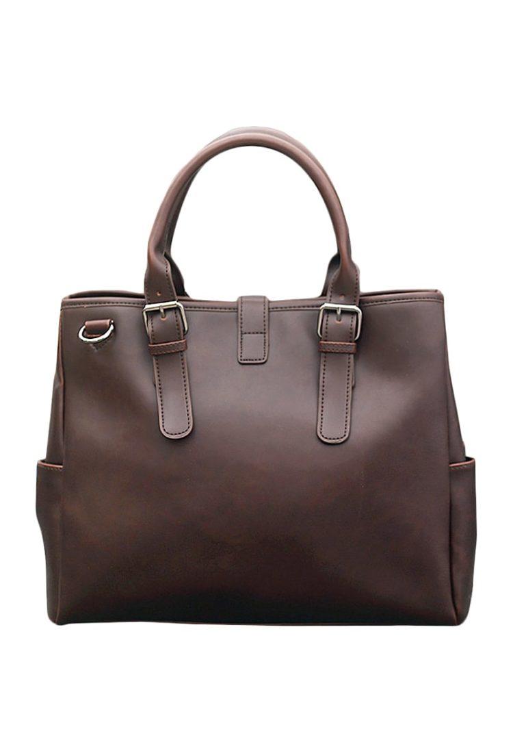 Tan Leather Women Shoulder Bag in India