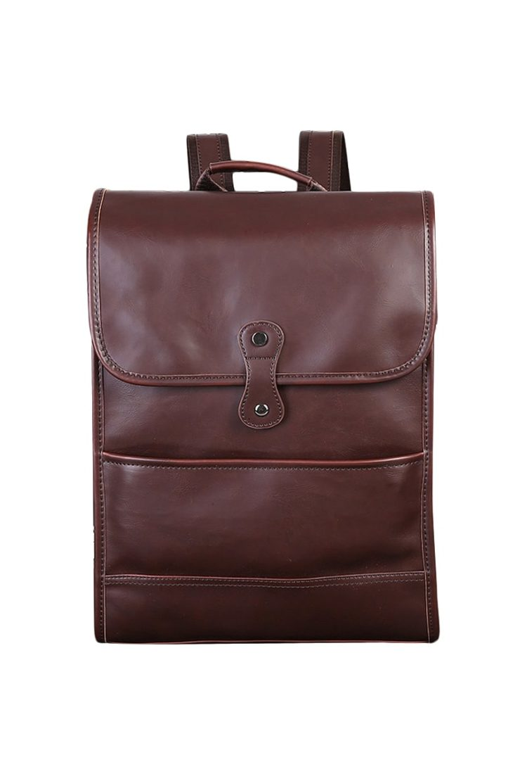 Tan Leather Backpack For Men & Women