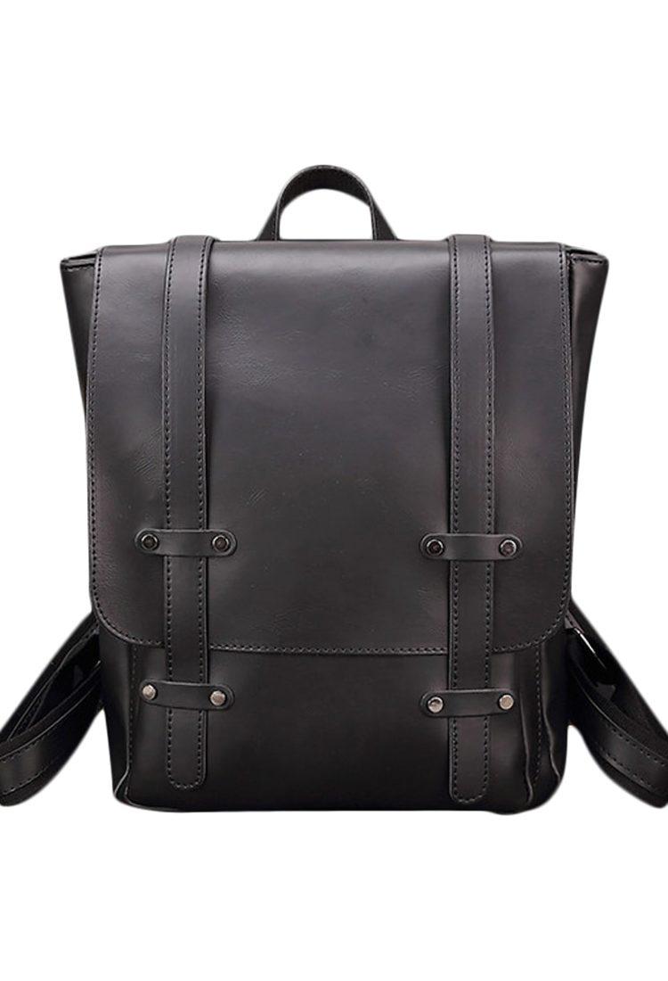 Vintage Leather Black Backpack Online in India