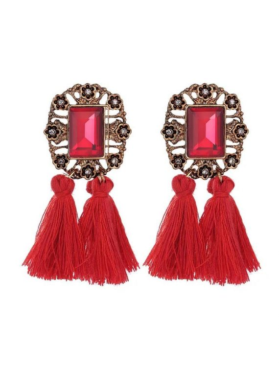 Buy Red Party Statement Earrings Online in India