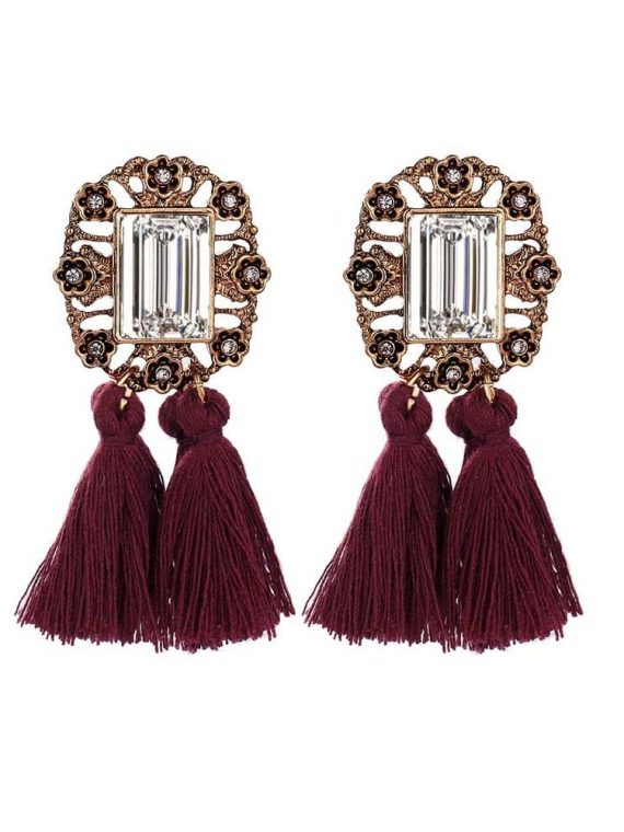 Buy Maroon Party Earring set Online