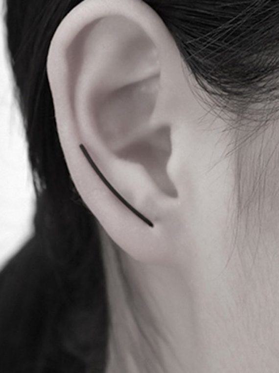 Buy Black U Shape Earrings Online India