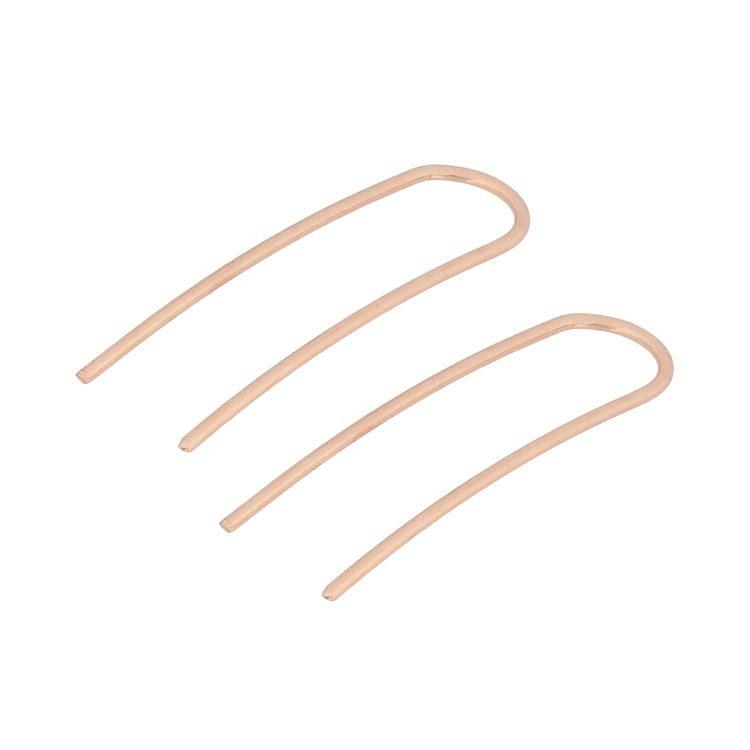 Golden U Shape Earrings For Girls