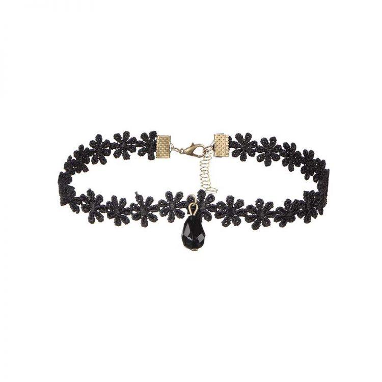 Buy Black Spiral Choker Necklace