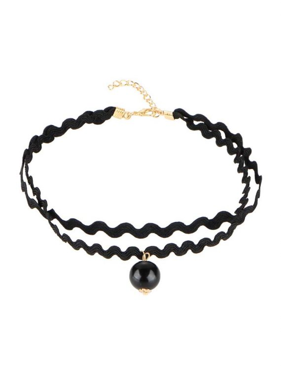 Buy Black Pearl Spiral Choker Necklace