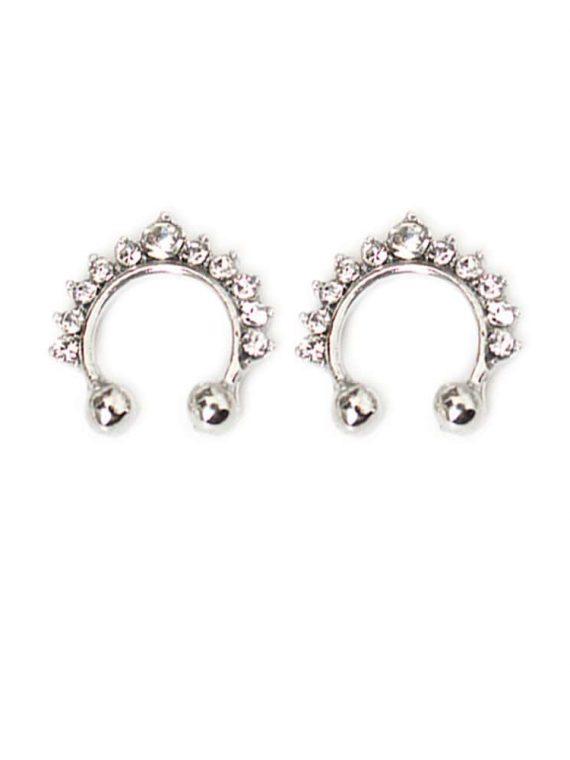 Buy Silver Stone Studded Earbone Earring