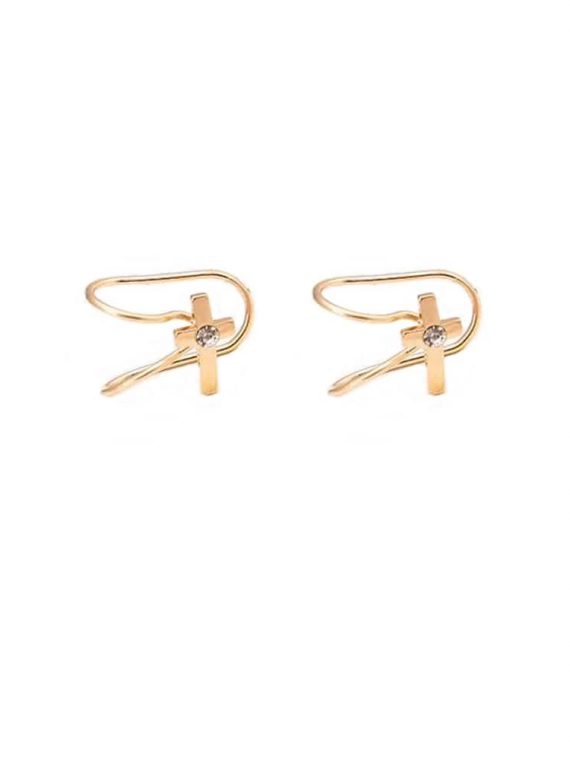 Buy Golden Cross Ear Bone EarCuff