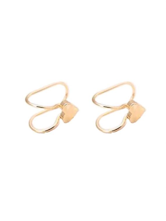 Buy Golden Heart Non Pierced Earrings
