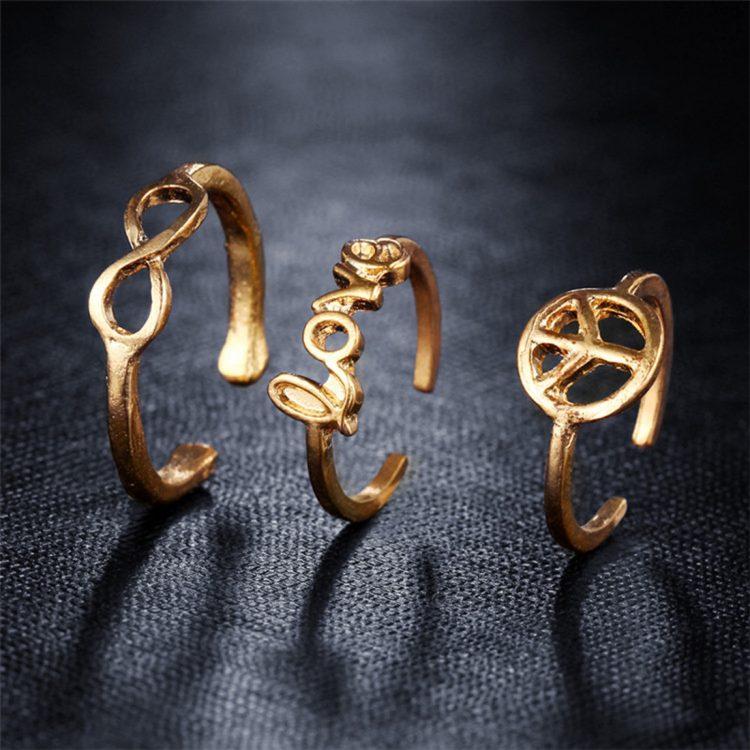 Buy Femnmas Toe Ring Set
