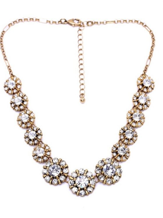 Zircon Stone Studded Necklace For Women
