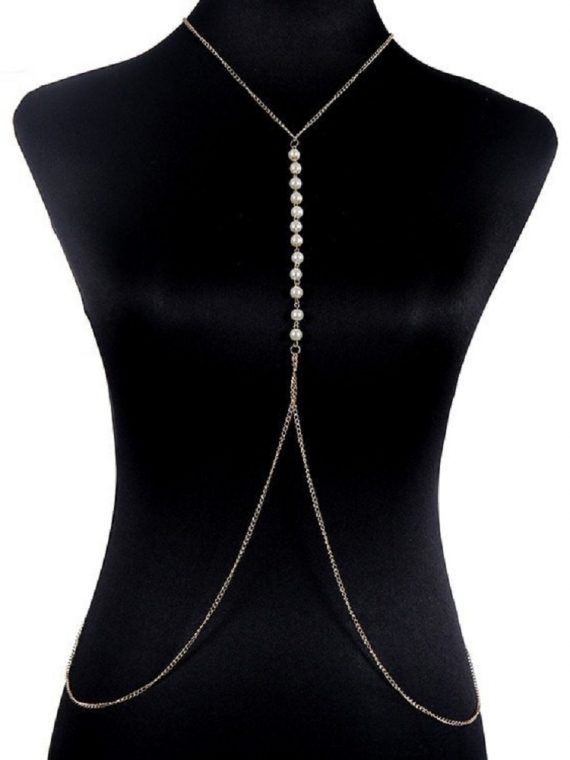 Pearl Body Chain online in India