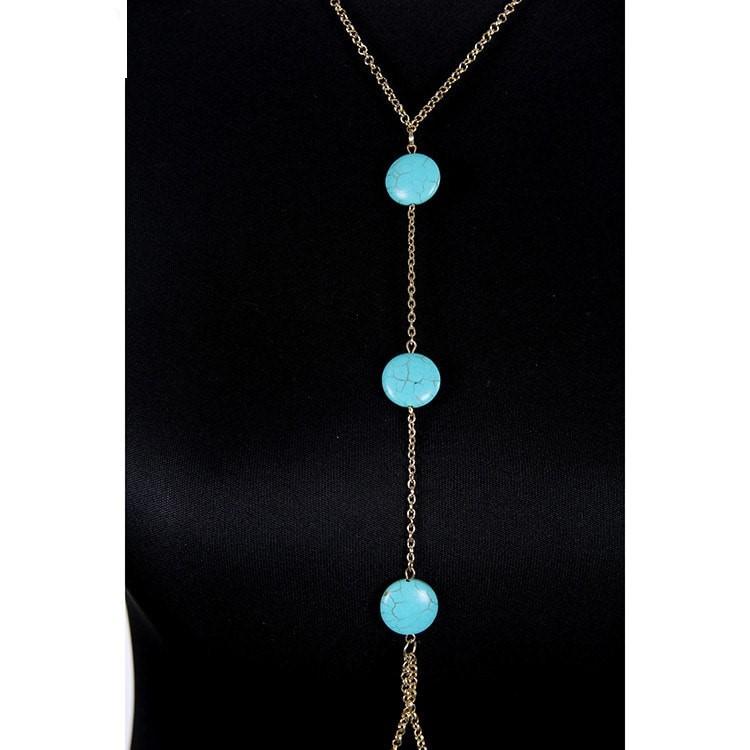 Blue Beads Body Chain