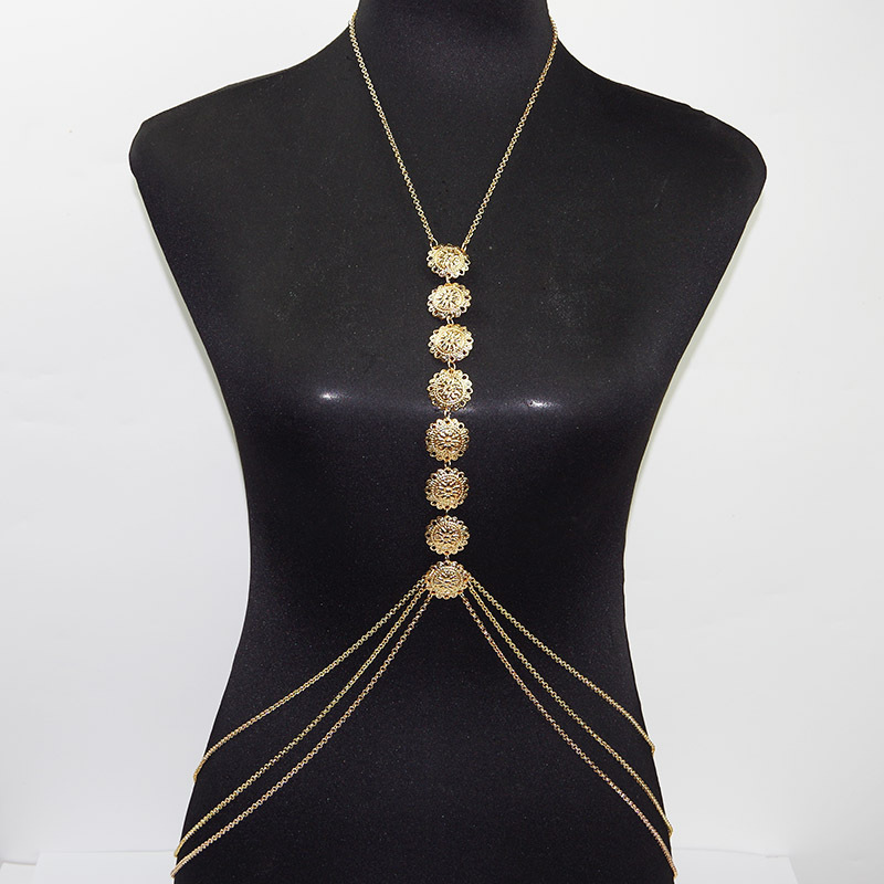 Golden Coin Body Chain For Girls By Femnmas