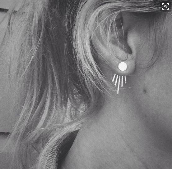 Silver Designer Earrings For Girls