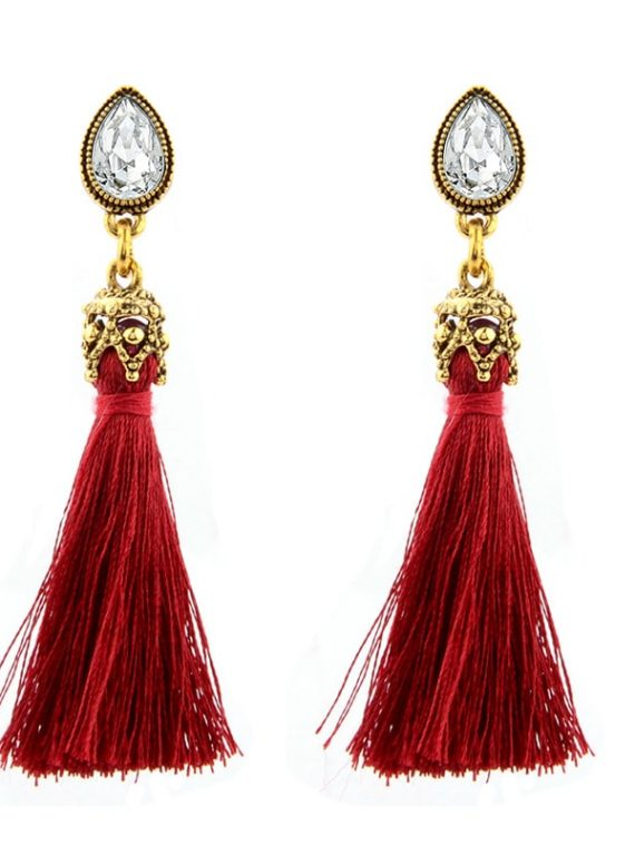 Red Thread Earrings For Women
