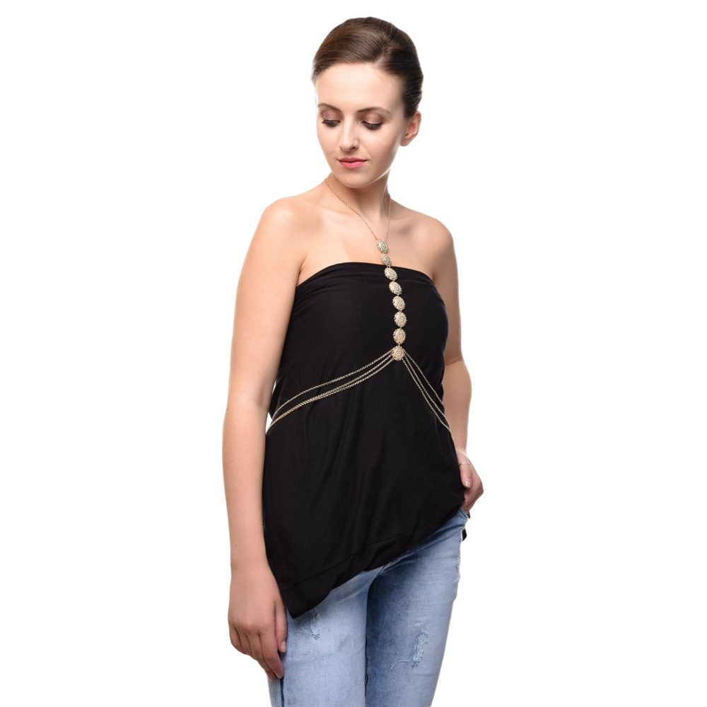 Golden Coin Party Body Chain For Girls