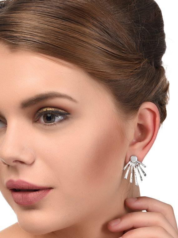 Silver Metal EarJacket For Women