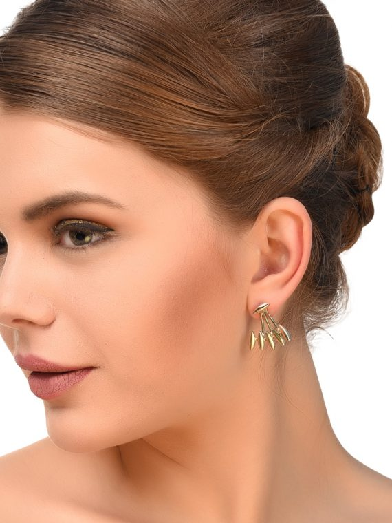 Golden EarJackets For Women