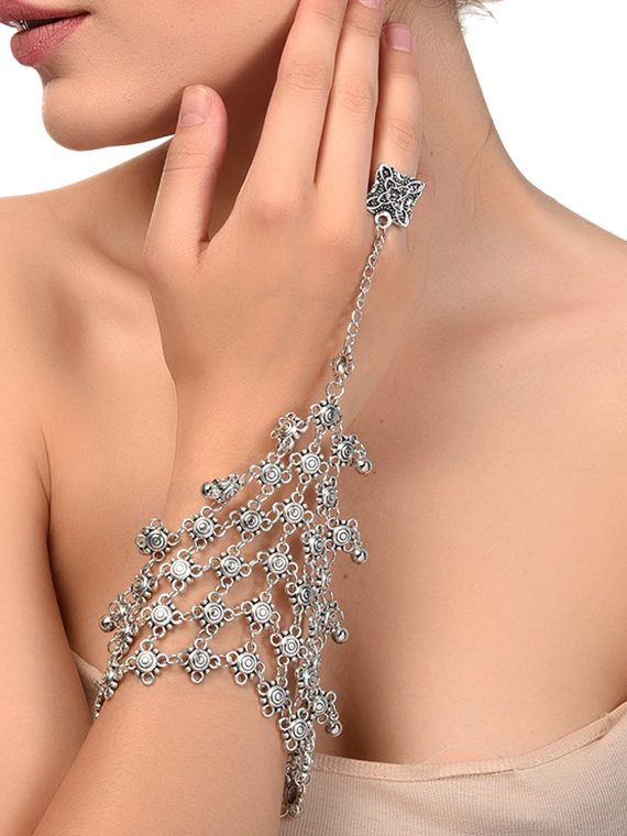 Grey Designer Hathphool For Women By Femnmas