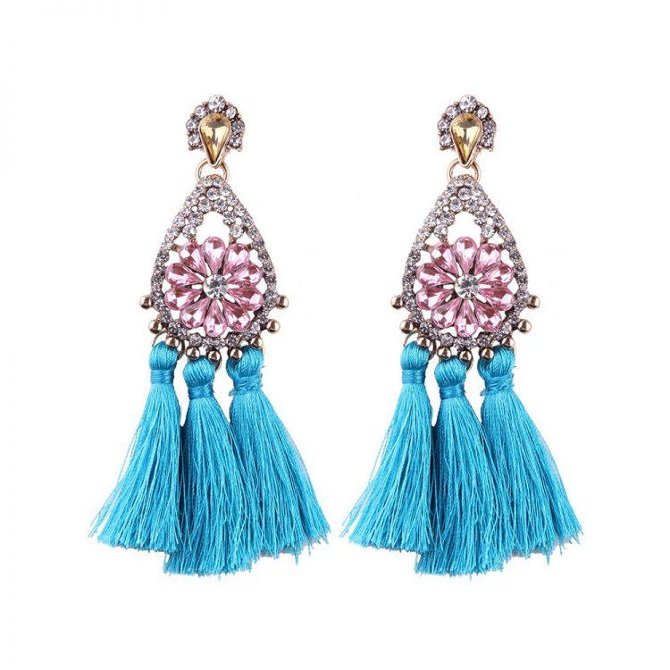 Tassel Celebrity Earrings by Femnmas