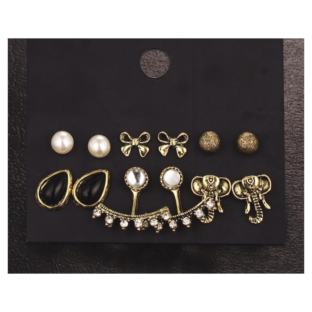 Femnmas 6 Earring Casual set for Girls by femnmas