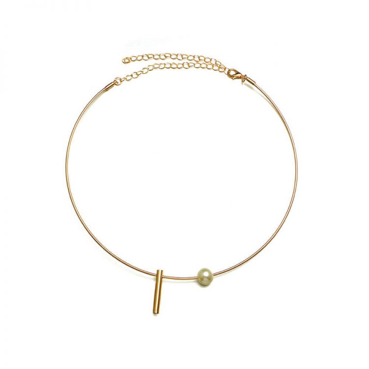 Golden Round Necklace For Girls By Femnmas
