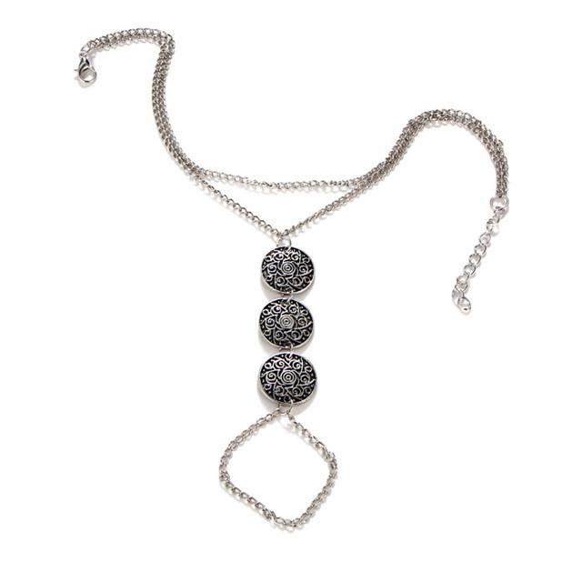 Silver Coin Toe Ring Chain Anklet For Girls