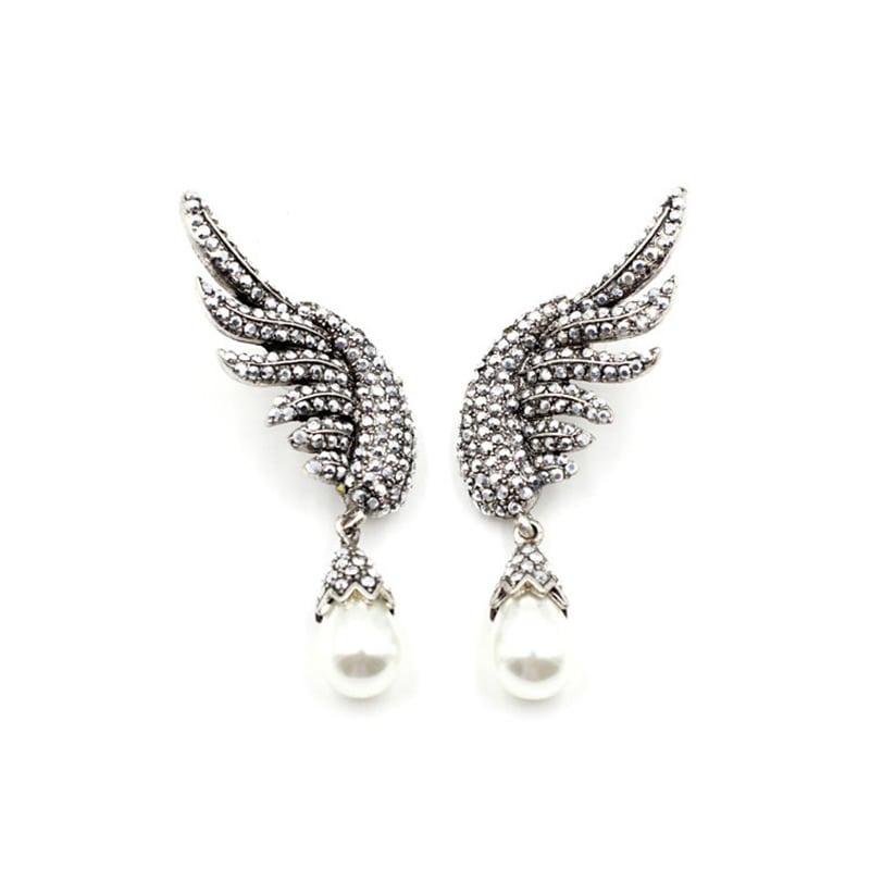 Zircon Stone Statement Earrings For Girls