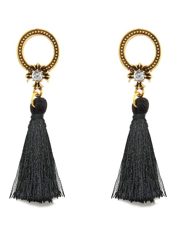Black Thread Earrings For Girls