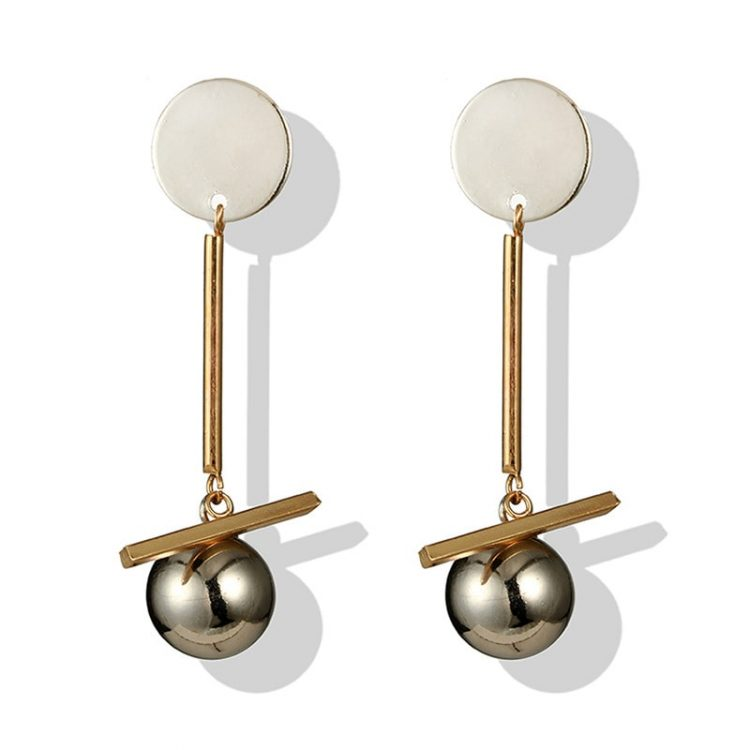 Silver Drop And Danglers Earrings For Girls