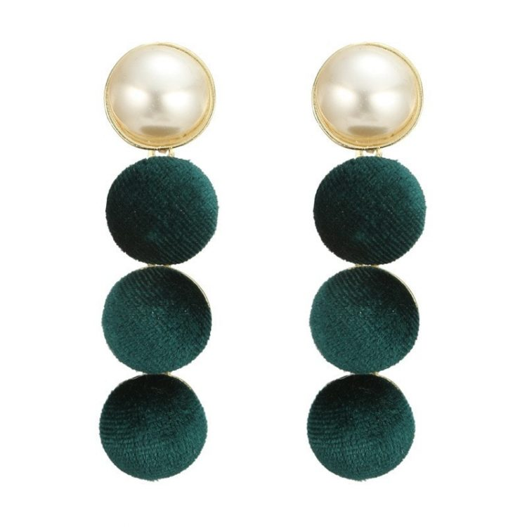Green Ethnic Indian Earrings For Women