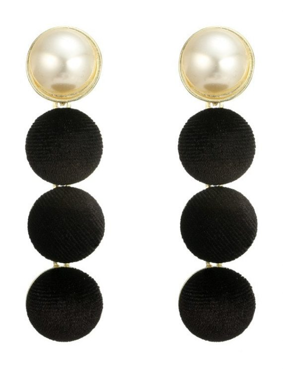 White And Black Earrings For Girls