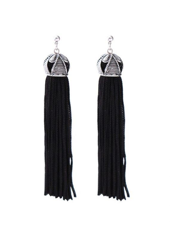 Black Tassel Earrings For Girls By Femnmas