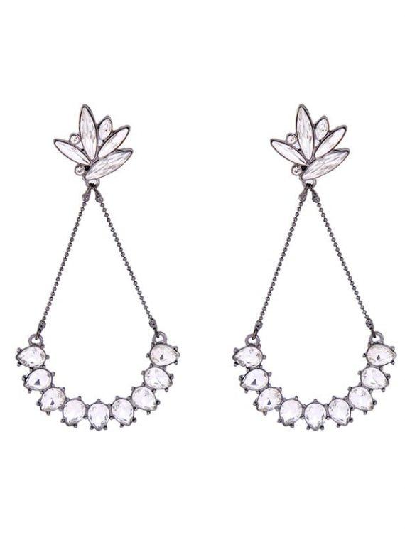 Zircon Drop Pendant Earrings By Femnmas
