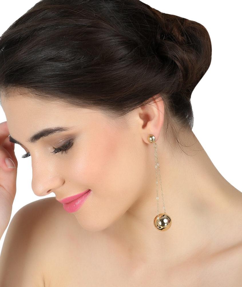Pearl Drop And Danglers Earrings By Femnmas