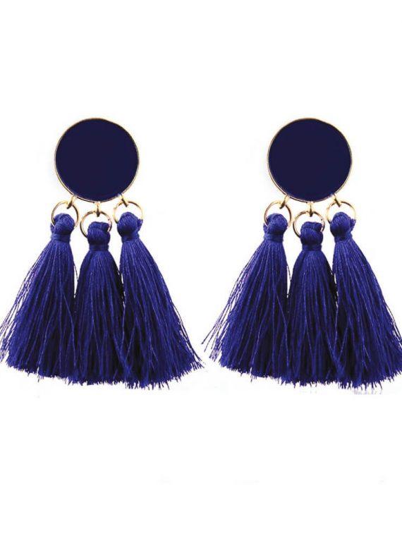 Blue Thread Designer Fashion Earrings