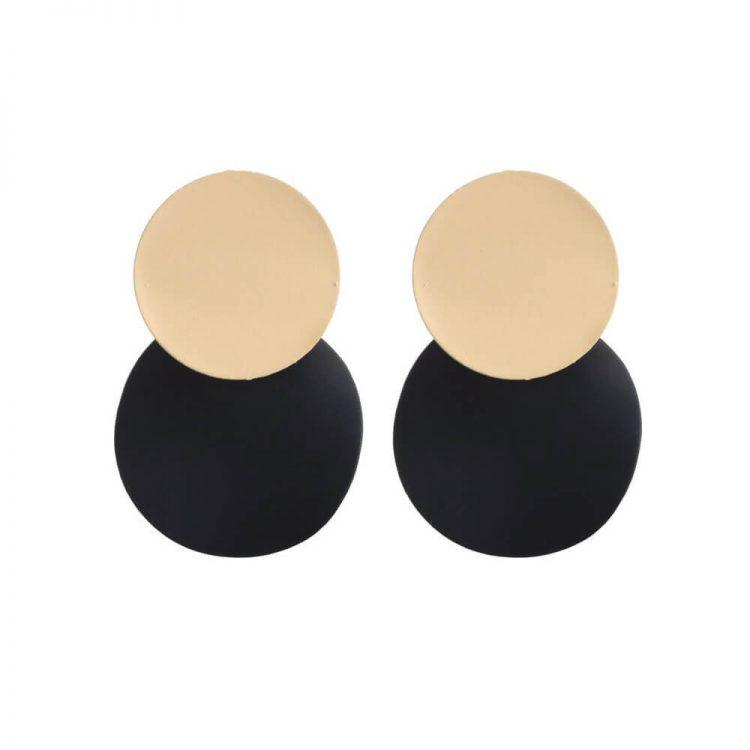 Black And Beige Dress Fancy Earrings For Women