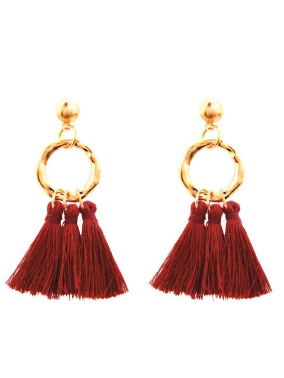 Red Thread Fashion Earrings For Girls