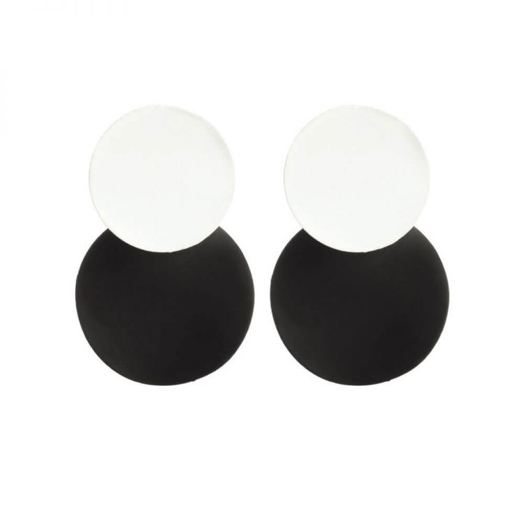 Black and White Fashion Earrings For Girls