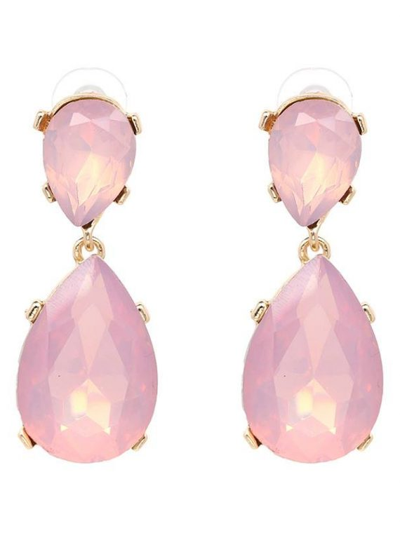 Pink Gemstone Fashion Earrings For Women