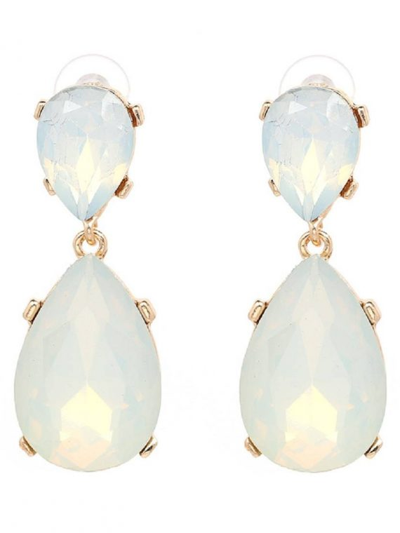 Green Gemstone Fashion Earrings For Women