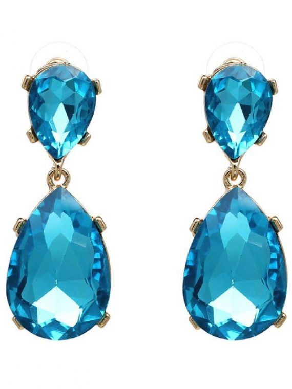 Blue Gemstone Fashion Earrings For Women