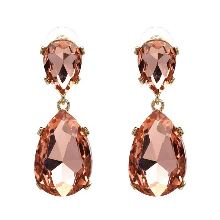 Pink Fashion Stone Fashion Earrings for Women
